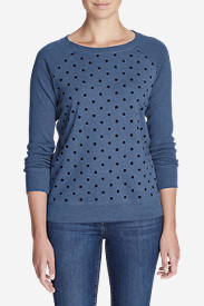 Women's Legend Wash Crewneck Sweatshirt - Polka Dot in Blue