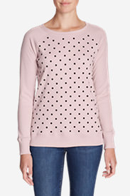 Women's Legend Wash Crewneck Sweatshirt - Polka Dot in Red