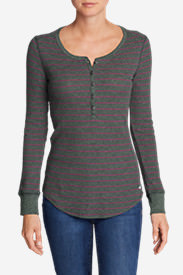 Women's Stine's Favorite Waffle Henley - Stripe in Purple