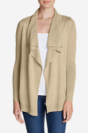 Women's Flightplan Cardigan Sweater - Solid in Beige