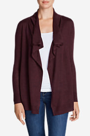 Women's Flightplan Cardigan Sweater - Solid in Red