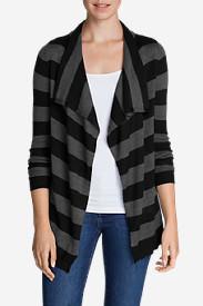Women's Flightplan Cardigan Sweater - Stripe in Gray