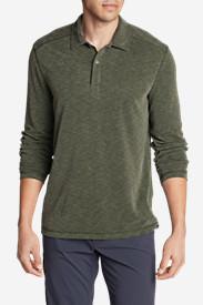 Men's Contour Long-Sleeve Polo Shirt in Green