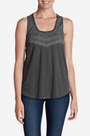 Women's Gypsum Embroidered Tank Top in Gray