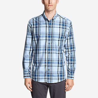 Men's On The Go Long-Sleeve Poplin Shirt in Blue