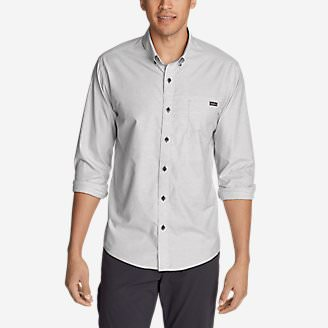 Men's On The Go Long-Sleeve Poplin Shirt in Gray