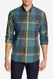 Men's On The Go Long-Sleeve Poplin Shirt in Green