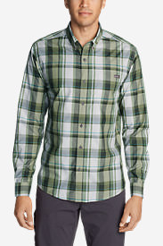 Men's On The Go Long-Sleeve Poplin Shirt in Green