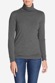 Women's Knit Turtleneck in Gray