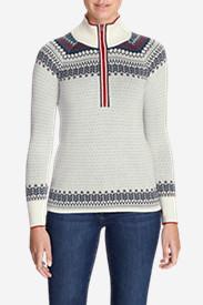 Women's Engage 1/4-Zip Sweater - Pattern in White