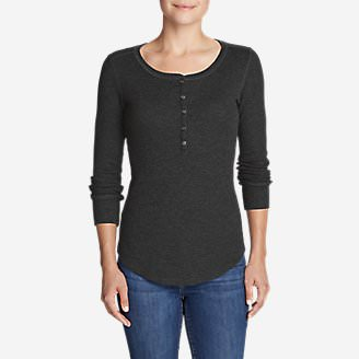 Women's Stine's Favorite Thermal Henley in Gray