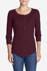 Women's Stine's Favorite Thermal Henley in Purple