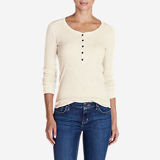 Women's Stine's Favorite Thermal Henley in White
