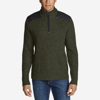 Men's Field Sweater in Green