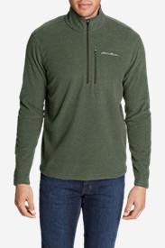 Men's Quest Textured Fleece 1/2-Zip in Green