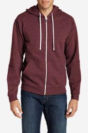 Men's Camp Fleece Full-Zip Hoodie in Red