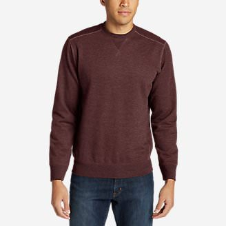 Men's Camp Fleece Crew Sweatshirt in Red