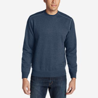 Men's Camp Fleece Crew Sweatshirt in Blue