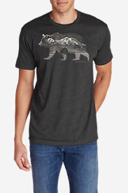 Men's Graphic T-Shirt - Double Grizzly in Gray