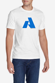 Men's Graphic T-Shirt - First Ascent Logo in White
