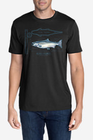 Men's Graphic T-Shirt - King Salmon in Black