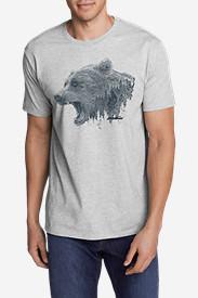 Men's Graphic T-Shirt - Growling Bear in Gray
