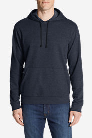 Men's Camp Fleece Pullover Hoodie in Blue