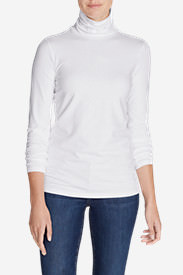 Women's Long-Sleeve Turtleneck in White