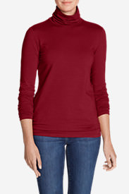 Women's Long-Sleeve Turtleneck in Red