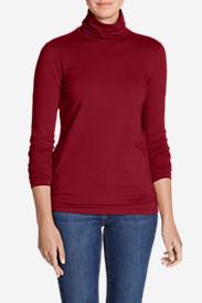 Women's Long-Sleeve Turtleneck in Red