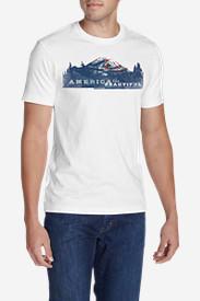 Men's Graphic T-Shirt - America The Beautiful in White