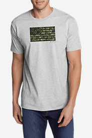 Men's Graphic T-Shirt - Camo Flag in Gray