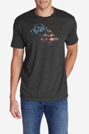 Men's Graphic T-Shirt - Flagrador Retriever in Gray