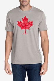 Men's Graphic T-Shirt - Canada Leaf in Gray