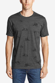 Men's Graphic T-Shirt - Forestscape in Gray