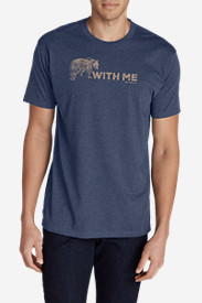 Men's Graphic T-Shirt - Bear With Me in Blue