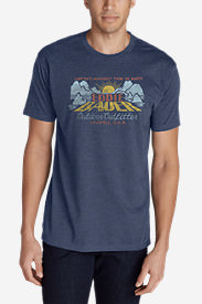 Men's Graphic T-Shirt - Eddie Bauer Down in Blue