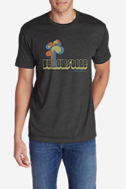 Men's Graphic T-Shirt - Yellowstone in Gray