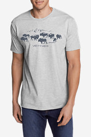 Men's Graphic T-Shirt - Wild Side in Gray