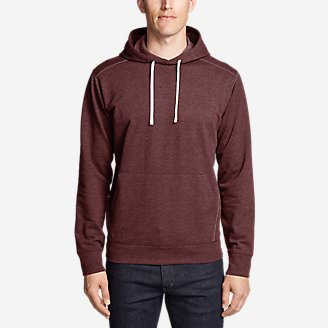 Men's Camp Fleece Pullover Hoodie in Red