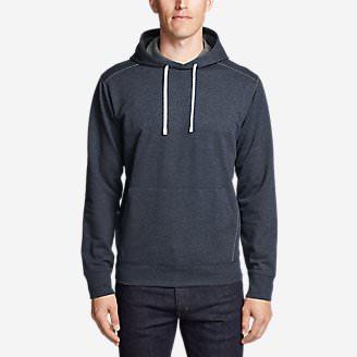 Men's Camp Fleece Pullover Hoodie in Blue