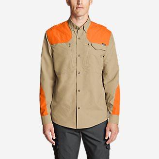 Men's Field Guide Flex Long-Sleeve Shirt - Blaze in Brown