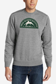 Men's Camp Fleece Graphic Crew - Eddie Bauer Great Outdoor Outfitters in Gray