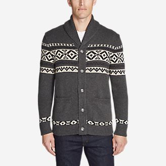 Men's Snowbridge Cardigan in Gray