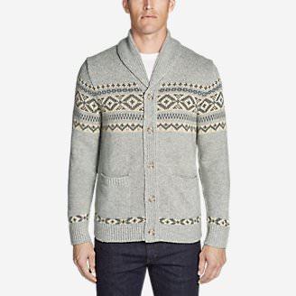 Men's Snowbridge Cardigan in Gray