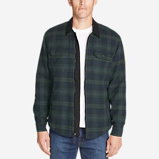 Men's Eddie's Favorite Flannel Sherpa-Lined Shirt Jacket in Multi