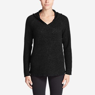 Women's Lounge Around Hoodie Sweater in Black