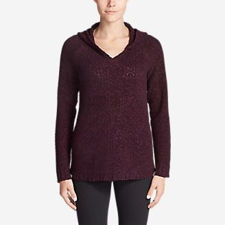 Women's Lounge Around Hoodie Sweater in Purple