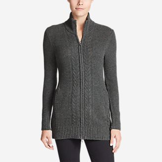Women's Mt. Elwell Cardigan Sweater in Gray