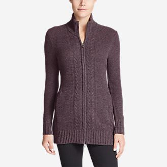 Women's Mt. Elwell Cardigan Sweater in Purple